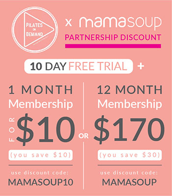Pilates on Demand x MamaSoup Promotional Discount